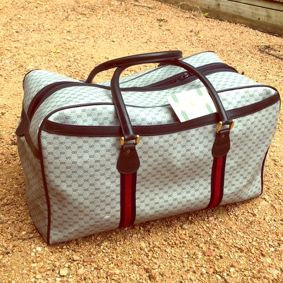 e00b6f820613 Gucci Bags | Vintage 80s Signature Duffel Bag | Poshmark